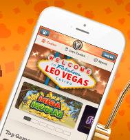 LeoVegas mit dem Handy