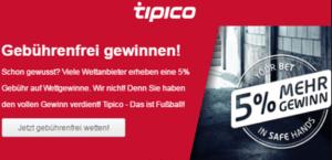 Tipico keine Wettsteuer