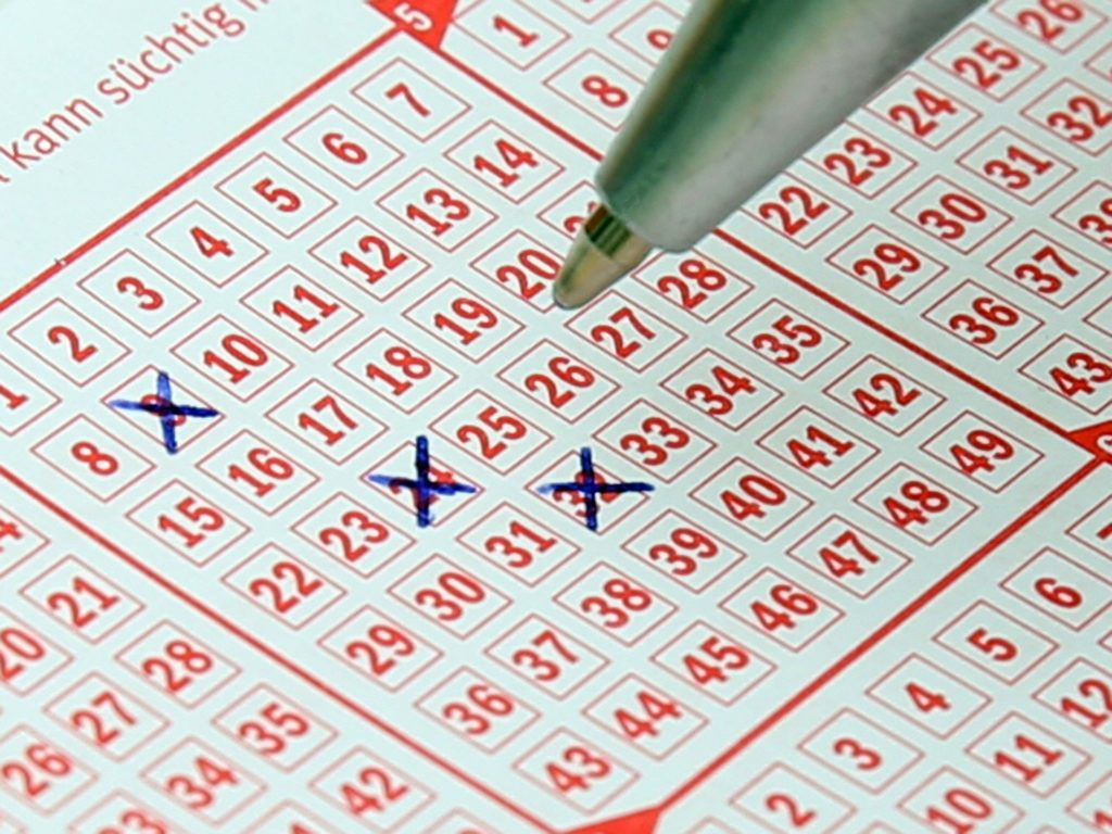 Ausgefüllter Lottoschein